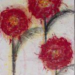 3 flores vermelhas